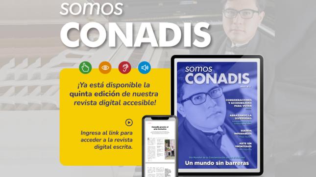 """Un mundo sin barreras en la sexta edición de la revista """"Somos Conadis"""""""