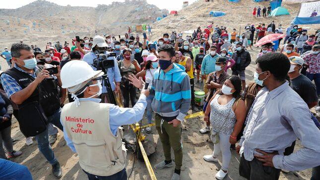 Ministerio de Cultura exhorta a ocupantes ilegales a desalojar el Morro Solar de Chorrillos