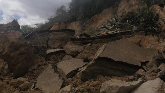 Áncash: Ingemmet realizará evaluación geológica en Huari, tras deslizamiento