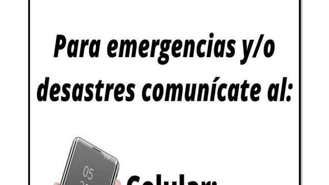Comunícate a nuestro número de Emergencia...