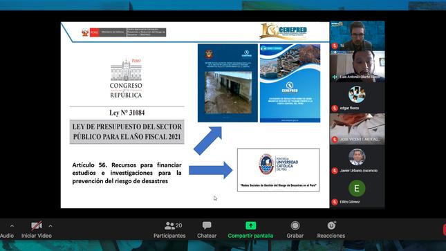 Cenepred participó en el taller virtual de orientación para la Programación Multianual 2022-2024 del PP 0068