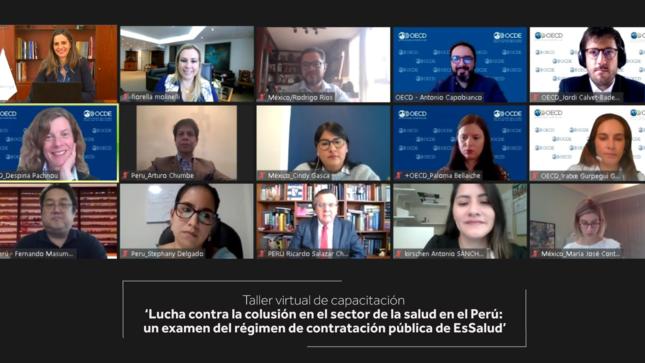El Indecopi, EsSalud y la OCDE capacitan a funcionarios públicos  para combatir la colusión en las contrataciones del sector salud