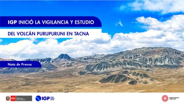 IGP inició la vigilancia y estudio del volcán Purupuruni en Tacna