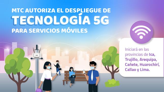 MTC autoriza el despliegue de tecnología 5G para servicios móviles