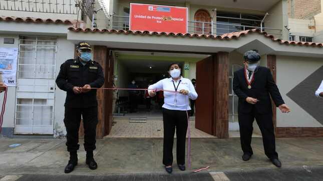 Ministra Silvia Loli inaugura primera Unidad de Protección Especial en ICA para atención de casos de riesgo o desprotección familiar