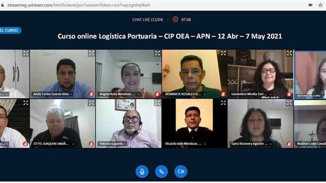 """APN y CIP-OEA iniciaron el curso en línea """"Logística Portuaria"""""""