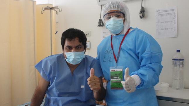 Paciente con hipertensión vence a la COVID-19 en el Hospital Emergencia Ate Vitarte