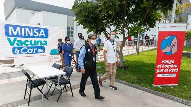 Ministro Ugarte inspecciona Videna que será punto de vacunación contra la COVID-19 a partir de mañana