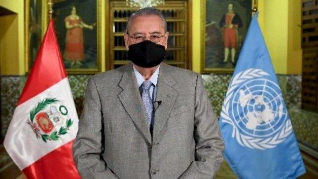 """Canciller Allan Wagner participa en evento de alto nivel """"Una Vacuna para Todos"""""""