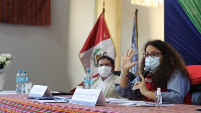Ministra Silvana Vargas y autoridades de Chincheros instalan primera mesa técnica para elaborar agenda territorial de protección social