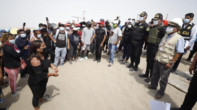Ministerio de Cultura exhortó a a ocupantes ilegales a retirarse de Zona Arqueológica Lomo de Corvina