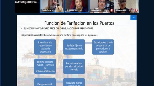 Inició el IV Curso Estructura de Modelos Tarifarios del Diplomado Interamericano en Gestión de Concesiones Portuarias y Servicios Auxiliares