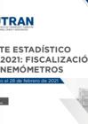 Vista preliminar de documento Reporte Estadístico N° 005 – 2021: Fiscalización con Cinemómetros