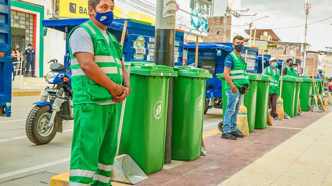 Nueve Motofurgones reforzarán la limpieza pública en Chulucanas