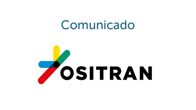 Comunicado sobre presentación de documentos y solicitudes de información ante el Ositrán