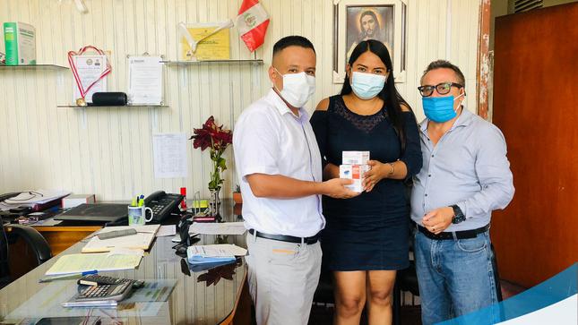 Municipalidad Provincial de Mariscal Cáceres, Entregó Pulsioxímetros y Combustible al Sector Salud