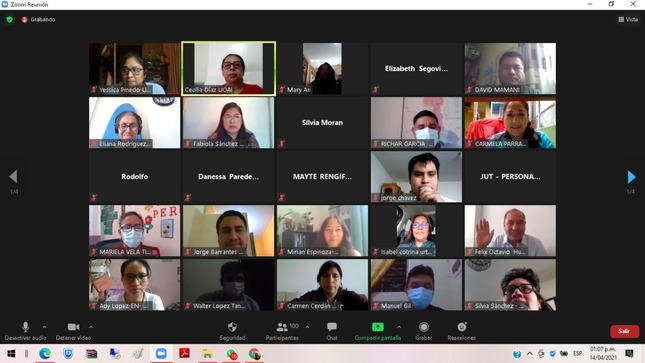 Equipos técnicos de Cuna Más participan de reunión virtual para evaluar la gestión operativa de los servicios en contexto no presencial