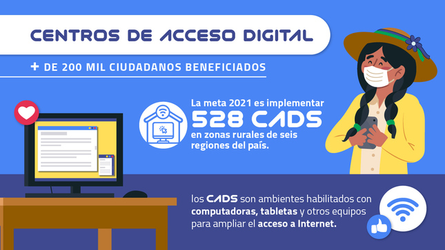 Pronatel impulsa Centros de Acceso Digital para beneficiar a más de 200 mil ciudadanos en zonas rurales