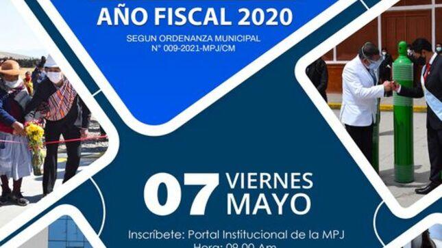convocatoria a audiencia pública rendición de cuenta año fiscal 2020