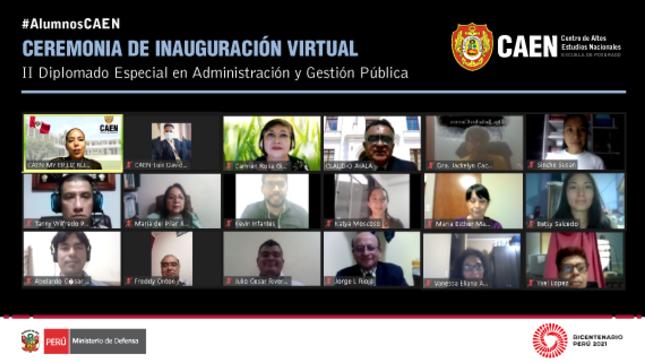 Ceremonia de inauguración virtual - II Diplomado Especial en Administración y Gestión Pública