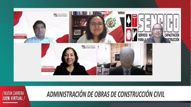 Ministra de Vivienda da la bienvenida a los nuevos ingresantes a la primera carrera técnica virtual del SENCICO