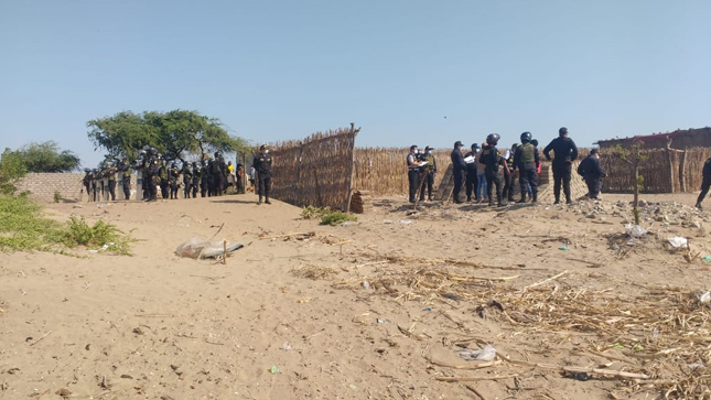 Se logró desalojar invasores de Huaca Lafora