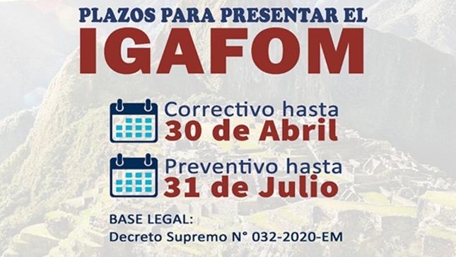 Plazos para presentar el IGAFOM