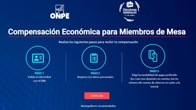 ONPE amplía plazo de registro de miembros de mesa hasta el viernes 30