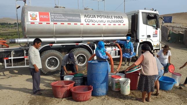Plan Cisterna atendió a casi 5 millones de peruanos con entrega de agua potable en su primera etapa