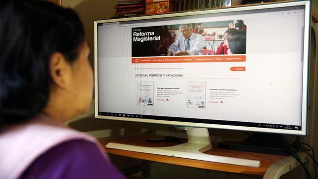 Minedu facilita gestión de permisos, licencias y vacaciones para docentes