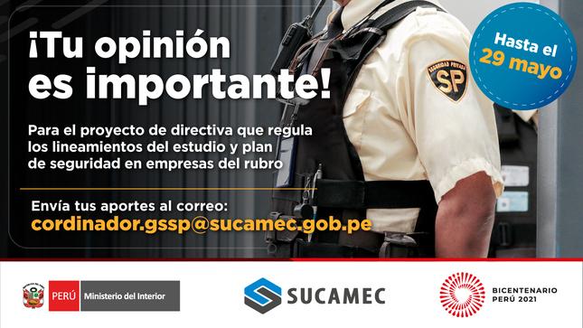Comunicado N°15-2021-SUCAMEC