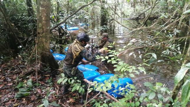 Operativo 'Tahuampas del Nanay' del Ministerio Público logró destrucción de cinco dragas de minería ilegal