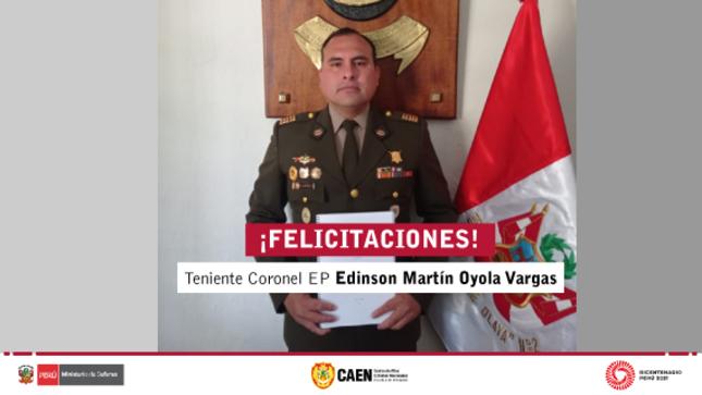Sustentación virtual de tesis - Teniente Coronel EP Edinson Martín Oyola Vargas