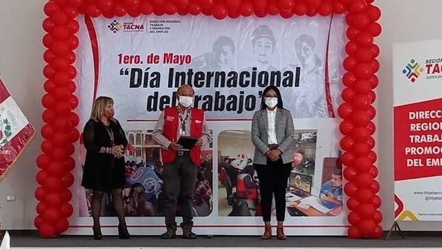 Gobierno Regional de Tacna reconoce labor de Trabaja Perú durante el 2020