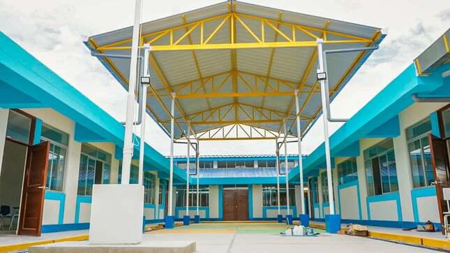 Moderna infraestructura para los niños y niñas del local escolar inicial N° 403 de Cruz Pampa - Yapatera