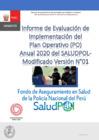 Vista preliminar de documento Informe de Evaluación de Implementación del Plan Operativo (PO) Anual 2020 del SALUDPOLModificado Versión N°01
