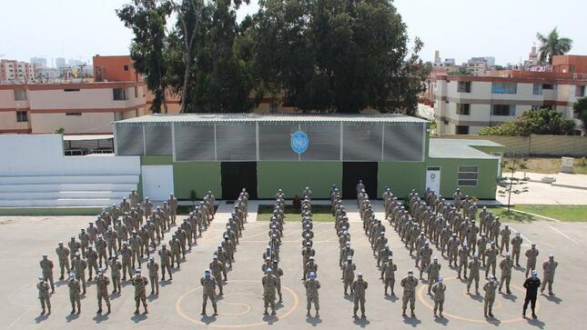 Cascos azules peruanos se preparan para la misión de paz en República Centroafricana