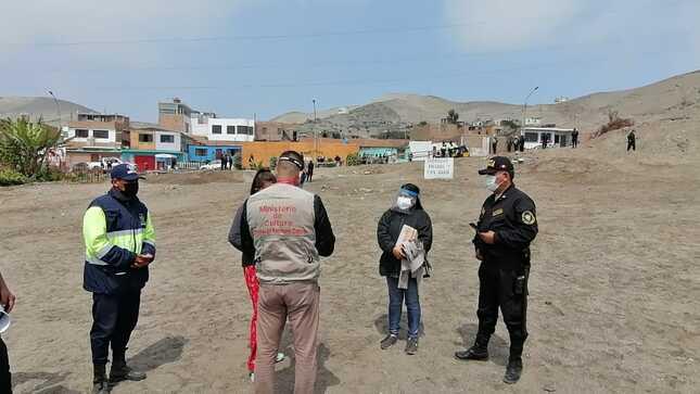 Ministerio de Cultura logró el retiro pacífico de ocupantes ilegales en el Sitio Arqueológico Anexo El Tanque Sector 2 en Ancón