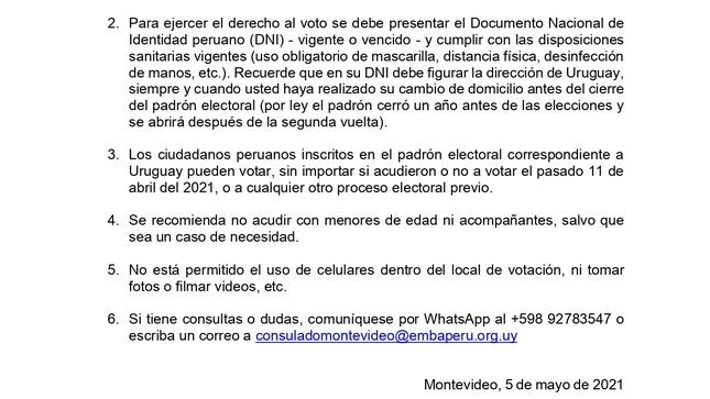 Elecciones Generales 2021: Segunda vuelta