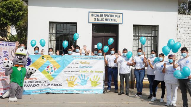 """El Hospital Nacional Hipólito Unanue resalto la importancia del adecuado lavado de manos: """"Segundos que salvan vidas, limpie sus manos""""."""