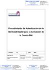 Vista preliminar de documento Procedimiento de Autenticación de la Identidad Digital para la Activación de la Cuenta DNI