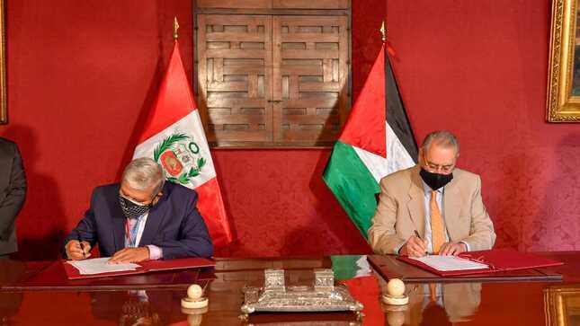 Firma de acuerdos para impulsar la cooperación con Palestina