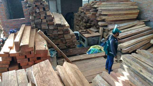 Junín: SERFOR interviene depósito ilegal de madera y decomisa más de 20,000 pies tablares