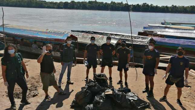 Realizaron jornada de limpieza en río Huallaga