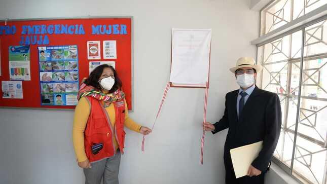 Jauja: MIMP inaugura nuevas instalaciones de Centro Emergencia Mujer para atención de casos de violencia