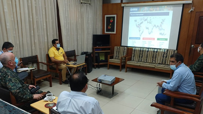 Marina de Guerra del Perú Base – Iquitos, presenta al GOREU proyecto del Servicio Industrial - SIMA