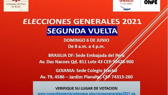 Elecciones Generales Perú 2021 - Segunda Vuelta