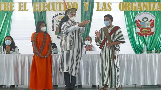 Selva Central: Presidente de la República se reunió con organizaciones indígenas para fortalecer acciones multisectoriales