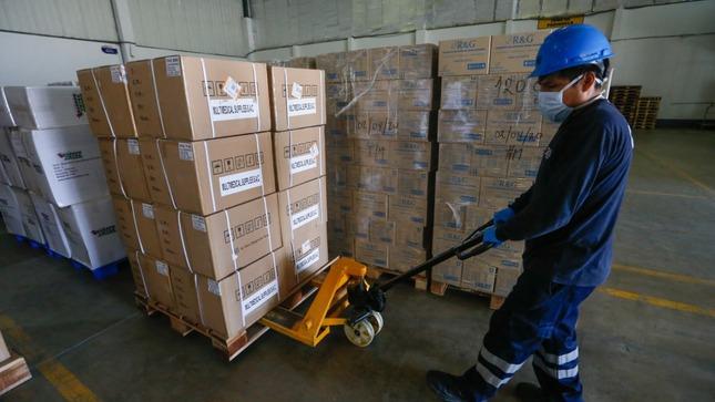Minsa entrega 541 toneladas de suministros médicos