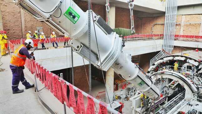 ¿Sabes cómo funciona la gigantesca tuneladora de la Línea 2 del Metro de Lima?
